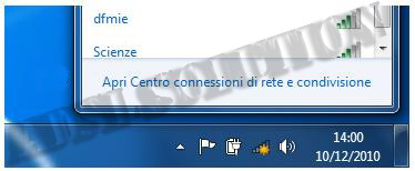 Configurazione scheda di rete wireless in DHCP su di Windows 7
