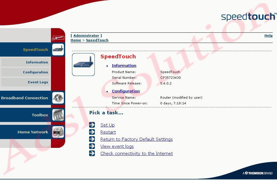 Thomson SpeedTouch 585(v6)